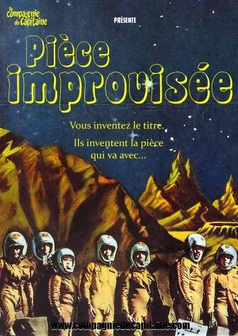 La pièce improvisée Compagnie du Capitaine Impro au Point Comédie