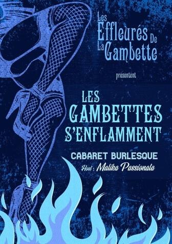 Les Gambettes s'enflamment Cabaret Burlesque - Théâtre Le Point Comédie