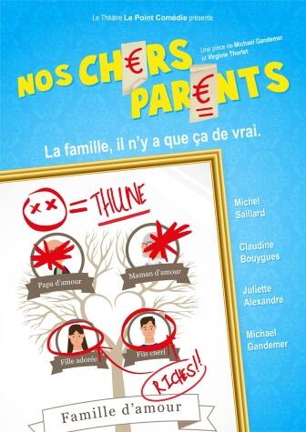 Nos Chers Parents Comédie café-théâtre au Théâtre Le Point Comédie